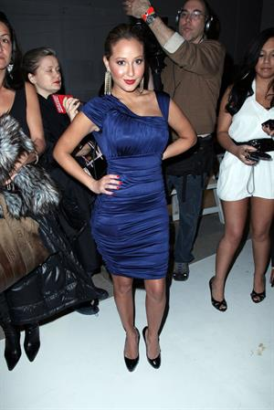 Adrienne Bailon bebe Show at MBFW on February 16, 2010
