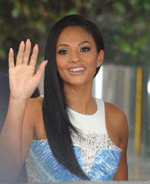 Alesha Dixon - Leaving hotel Manc - 21st Jan 2012