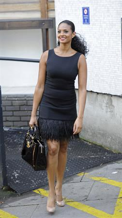 Alesha Dixon - Leaving ITV studios in London - 29.09.11