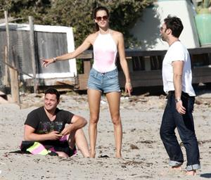 Alessandra Ambrosio at Malibu Beach on May 29, 2011