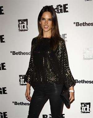 Alessandra Ambrosio launch of the new video game Rage in Los Angeles on September 30, 2011