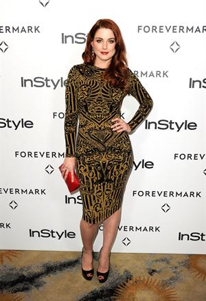 Alexandra Breckenridge Forevermark and Instyle Golden Globe event on January 10, 2012