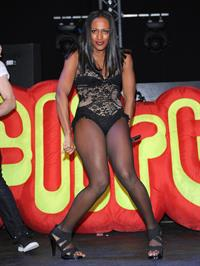 Alexandra Burke on stage at Hertfordshire on December 18, 2010