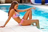 Chanel Stewart in a bikini