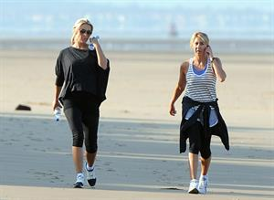 Alex Curran - Personal training session on a beach on September 19, 2011