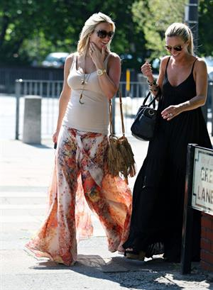 Alex Curran walking in Liverpool on July 14, 2011