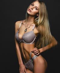 Alena Filinkova in lingerie