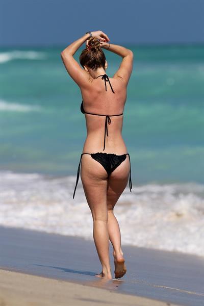 Alice Eve bikini candids in Miami 11/24/12