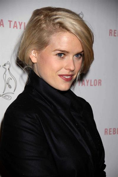Alice Eve at the Rebecca Taylor store opening party in New York on March 23, 2011