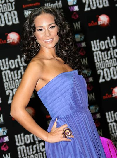 Alicia Keys attending the 20th World Music Awards
