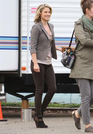 Ali Larter Filming 'You're Not You' in Los Angeles (November 15, 2012)