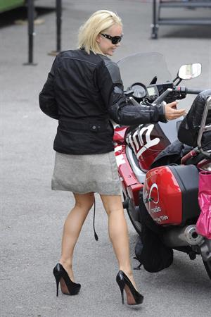 Amanda Holden arrival at Britain's Got Talent rehearsals in London on May 30, 2011