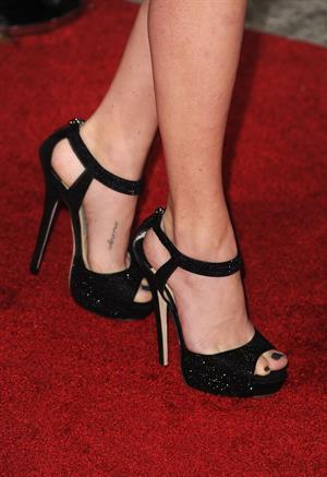 Amanda Seyfried In Time premiere in Los Angeles on October 20, 2011