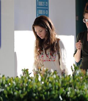 Amanda Seyfried on set of Lovelace in Los Angeles on January 5, 2012