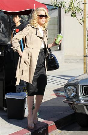 Amber Heard out in Beverly Hills on December 16, 2011
