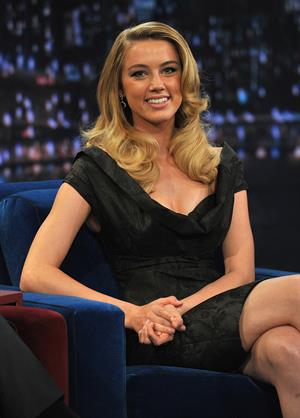Amber Heard on Late Night with Jimmy Fallon at the Rockefeller Center on February 2, 2011