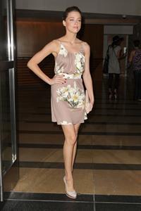 Amber Heard leaves the Omni Hotel in San Diego on July 24, 2010