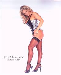 Kim Chambers in lingerie