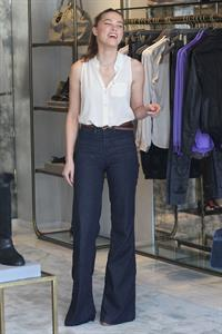 Amber Heard Shops at Monika Chiang Store in Los Angeles - October 20, 2012