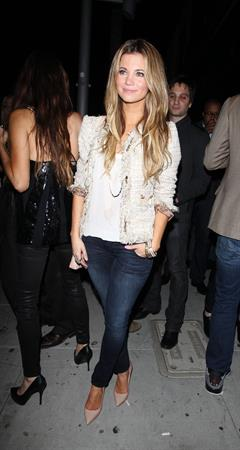 Amber Lancaster leaving the Beverly Nightclub in West Hollywood on October 20, 2011