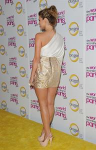 Amber Lancaster the World According to Paris series premiere party in Hollywood on May 17, 2011