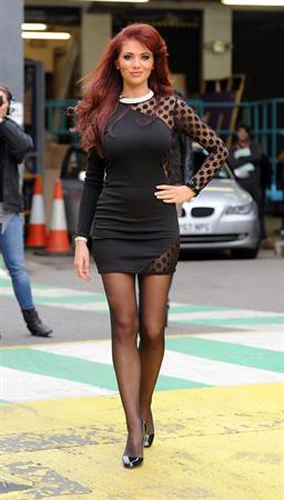 Amy Childs ITV studios in London on 1/12/2011