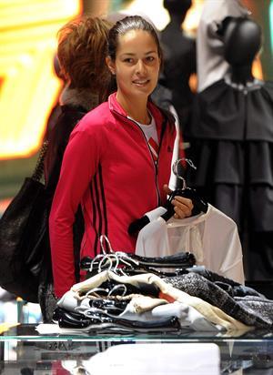 Ana Ivanovic shopping at Armani Boutique in Milan on December 2, 2012