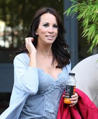 Andrea McLean outside ITV studios on September 12, 2011