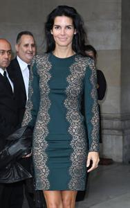 Angie Harmon Stella McCartney fashion show at Paris Fashion Week on September 30, 2013