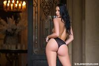 Playboy Cybergirl Kendra Cantara strips off her black lingerie