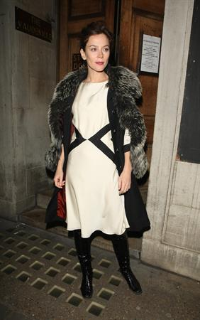 Anna Friel Leaving the Vaudeville Theatre - November 1, 2012