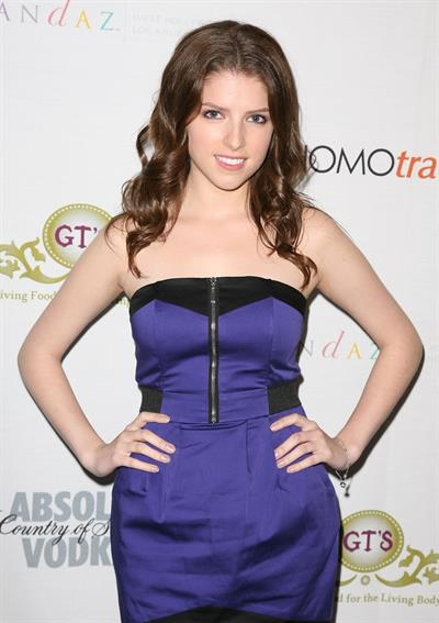 Anna Kendrick the Shepard Fairey Equality Project launch party