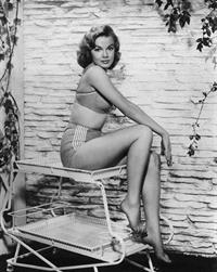 Leslie Parrish in a bikini
