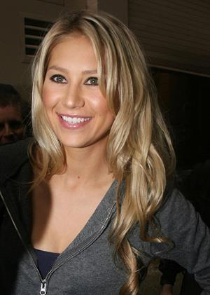 Anna Kournikova leaving the Live with Regis and Kelly studio in New York on September 20, 2011