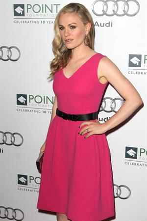 Anna Paquin the 2011 Point Honor Los Angeles gala hosted by Joel McHale on September 24, 2011