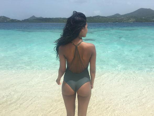 Julia Evans in a bikini - ass