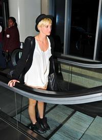 Ashlee Simpson LAX Airport on July 6, 2011