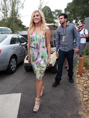 Ashley Roberts at Australian F1 Grand Prix on March 28, 2010