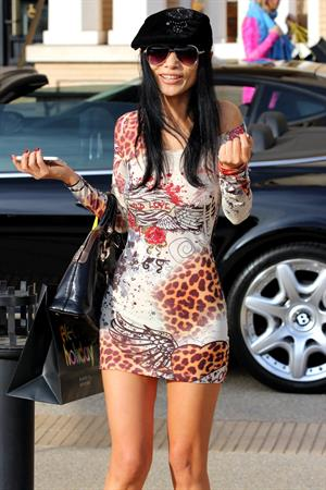 Bai Ling outside Barneys New York in LA 12/21/12
