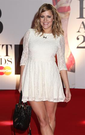 Caroline Flack Brit Awards London on February 15, 2011