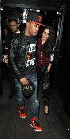 Cheryl Cole at the Rose Club in London 12/20/12