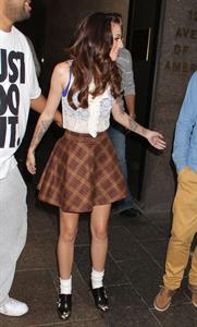 Cher Lloyd leaves Sirius Radio studios in NYC October 4, 2012