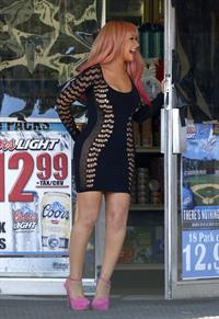 Christina Aguilera - filming a music video in Los Angeles August 24, 2012