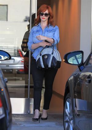 Christina Hendricks in Hollywood on August 20, 2012