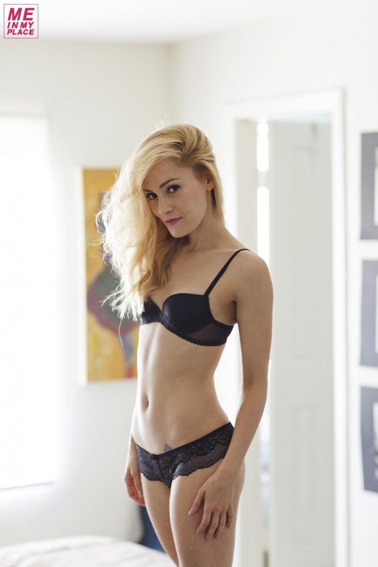 Cathy Baron in lingerie