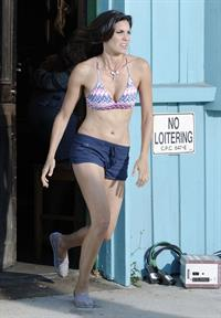Daniela Ruah - on the set of NCIS Los Angeles in Venice Beach Sept 18, 2012