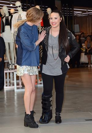 Demi Lovato Topshop Topman LA Grand Opening at The Grove in LA 2/14/13