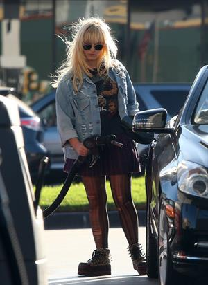 Demi Lovato getting gas in Beverly Hills 10/7/12