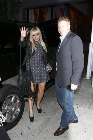 Demi Lovato leaving Jimmy Kimmel Live 10/8/12