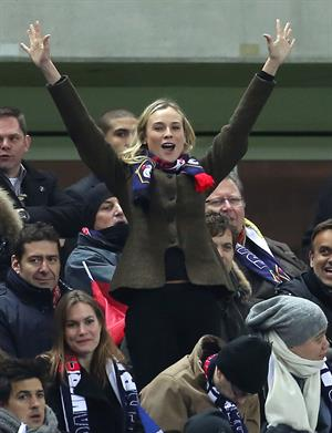 Diane Kruger France vs.Germany friendly soccer game in Paris, Frannce on February 6, 2013